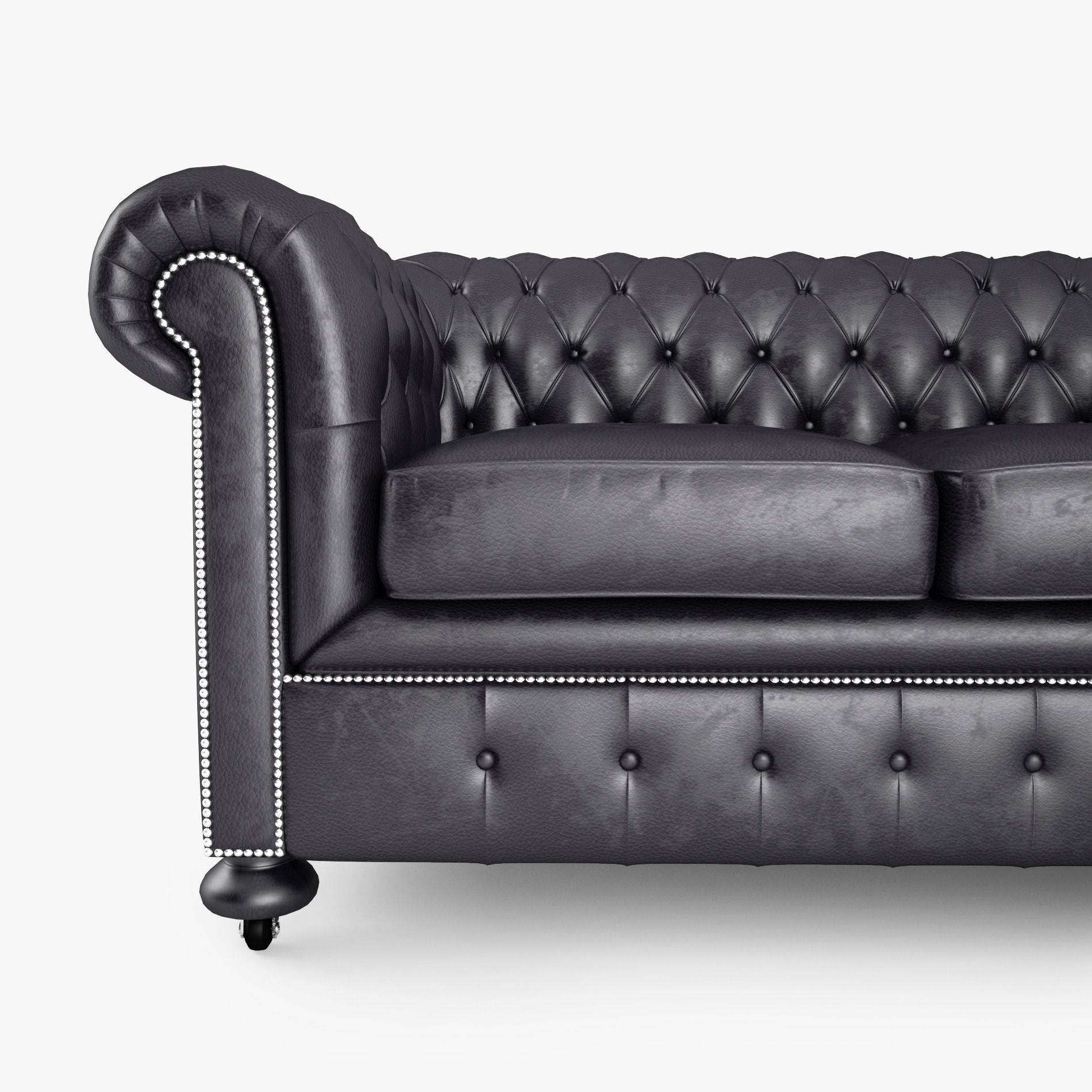 Chesterfield Black Sofa Paxton Black Leather Chesterfield Company TheSofa