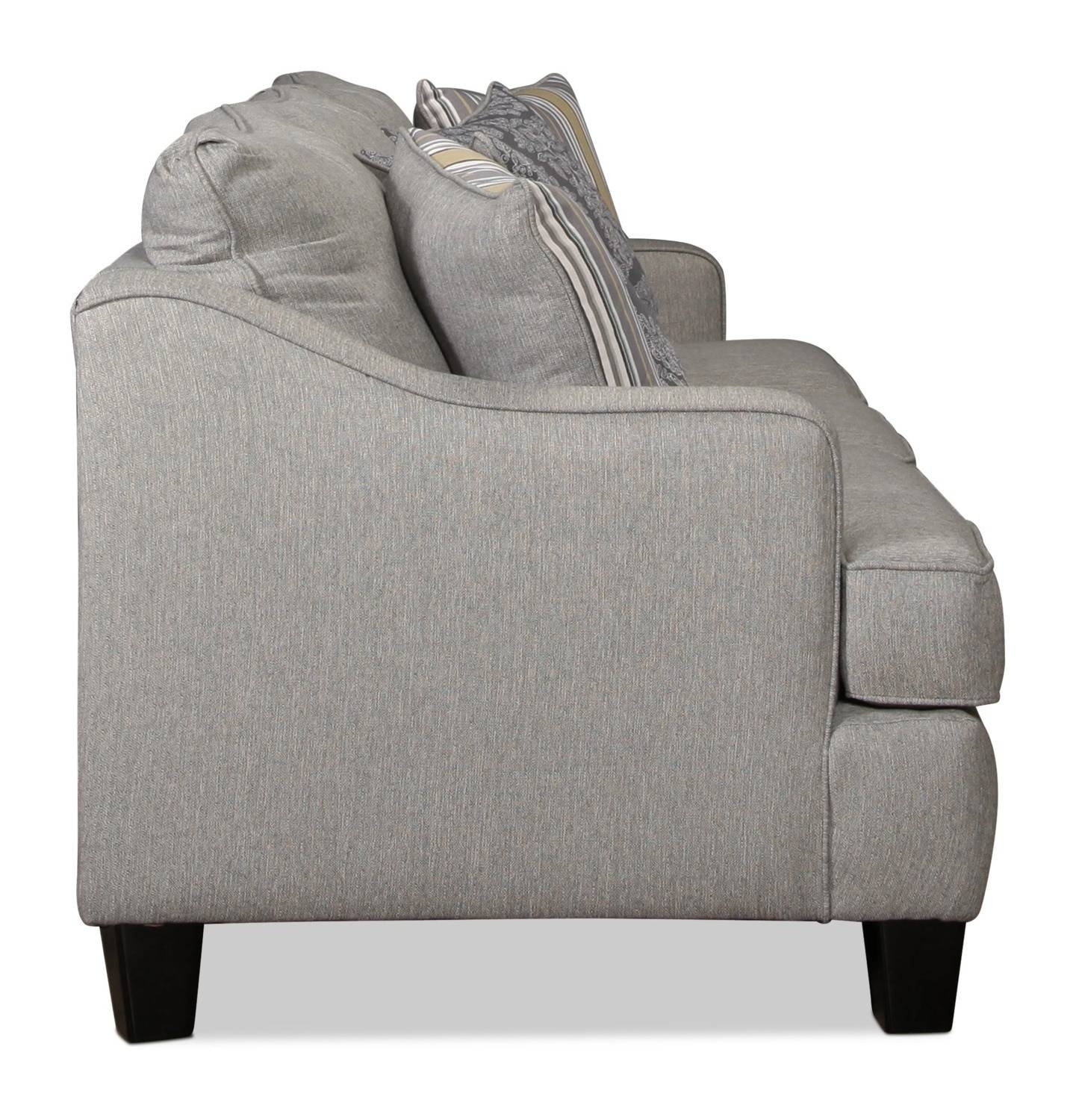 Wilmington Queen Sleeper Sofa - Platinum | Levin Furniture intended for Loveseat Twin Sleeper Sofas (Image 29 of 30)
