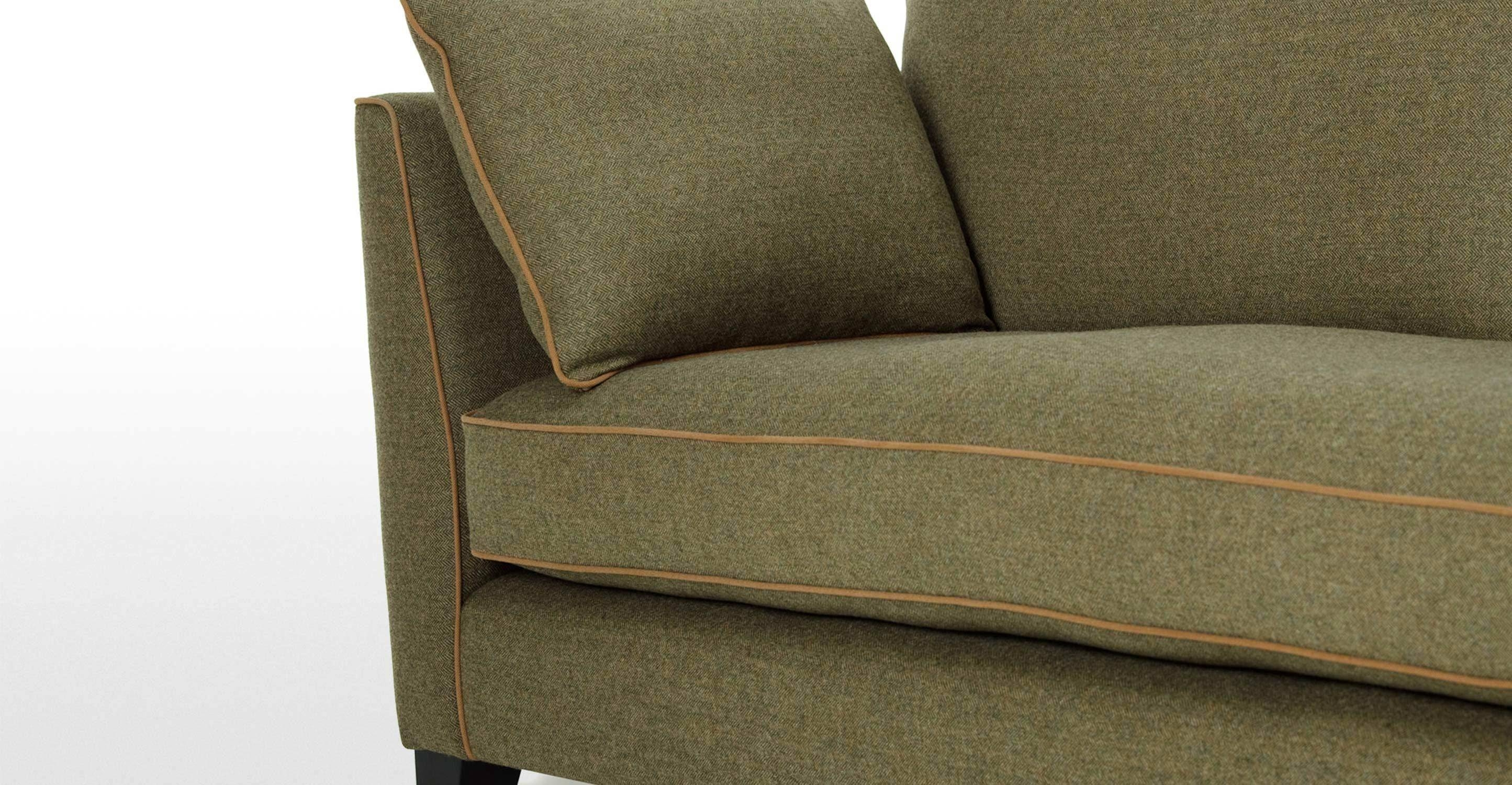 Wolseley 3 Seater Sofa In Wool Tweed | Made in Tweed Fabric Sofas (Image 26 of 30)