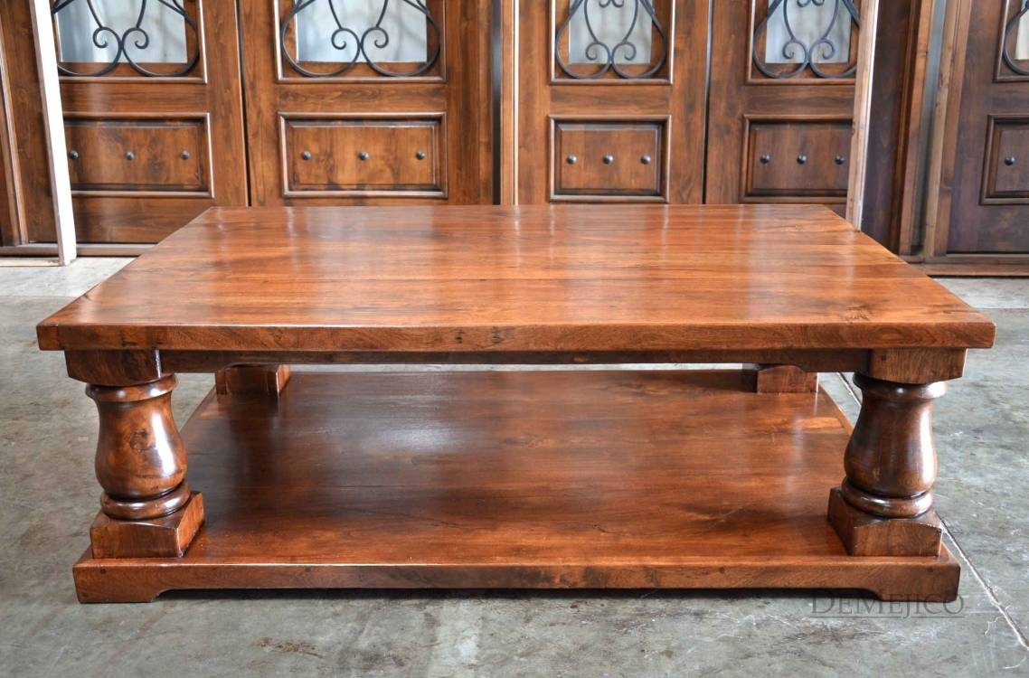 Wonderful Large Rustic Coffee Table With Kitchen Pleasant Round Inside Extra Large Rustic Coffee Tables (View 3 of 30)