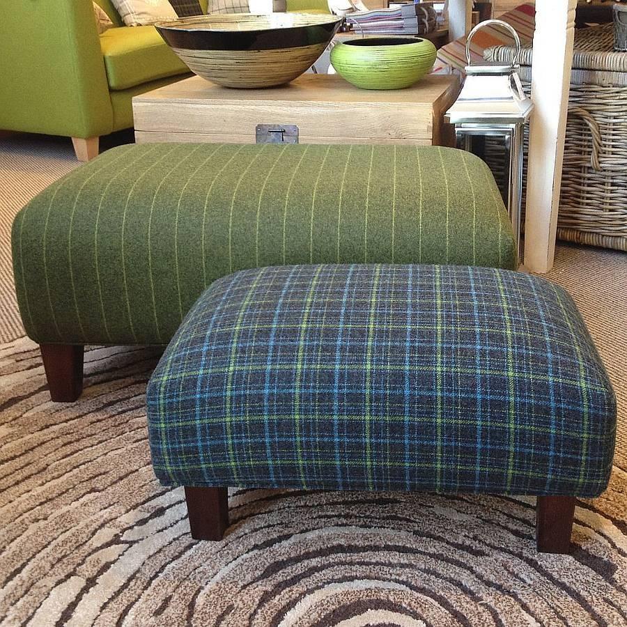 Wonderful Large Upholstered Footstool Luxury Handmade Upholstered intended for Upholstered Footstools (Image 29 of 30)