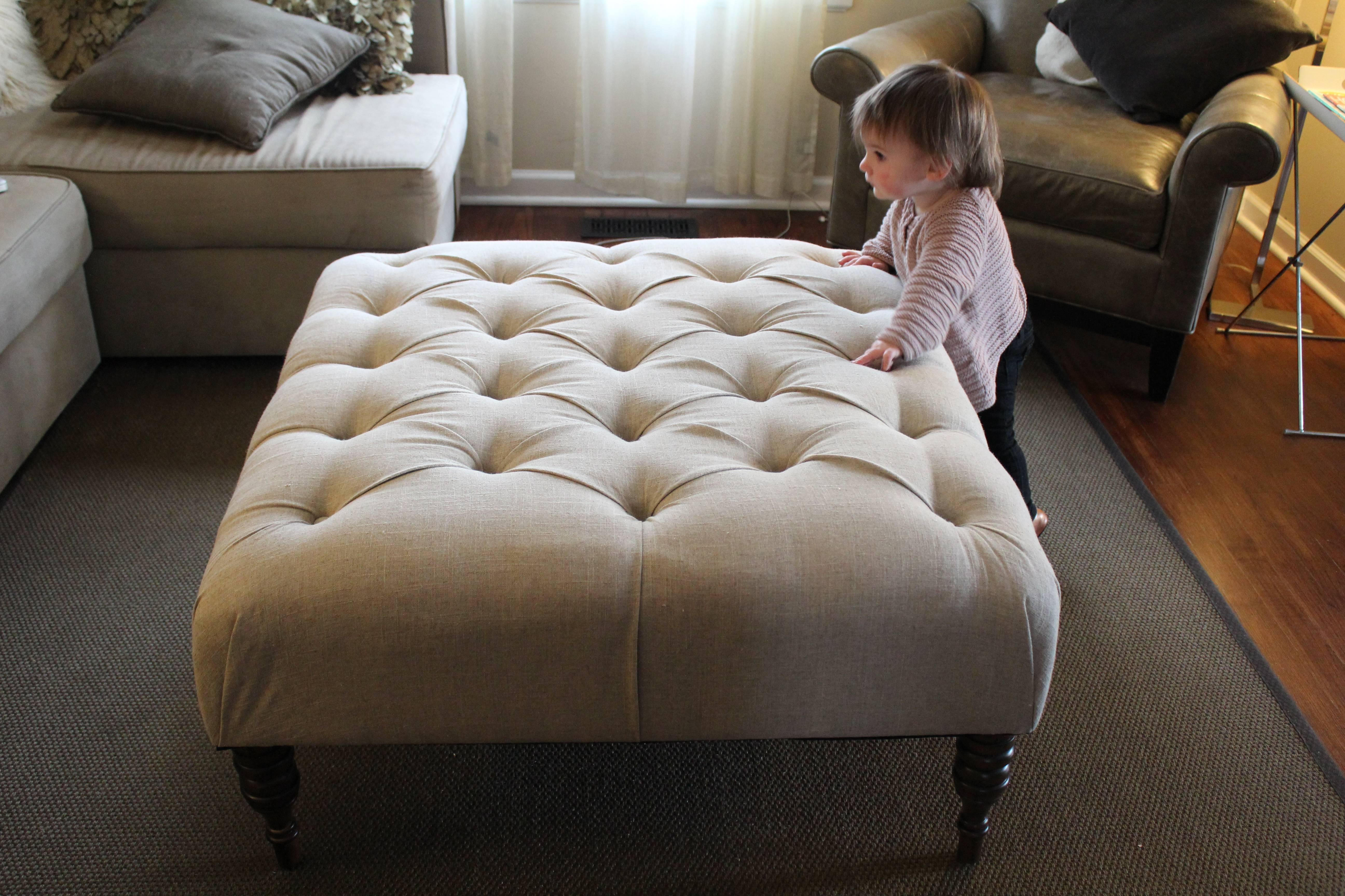 Wonderful Large Upholstered Footstool Luxury Handmade Upholstered with Upholstered Footstools (Image 30 of 30)