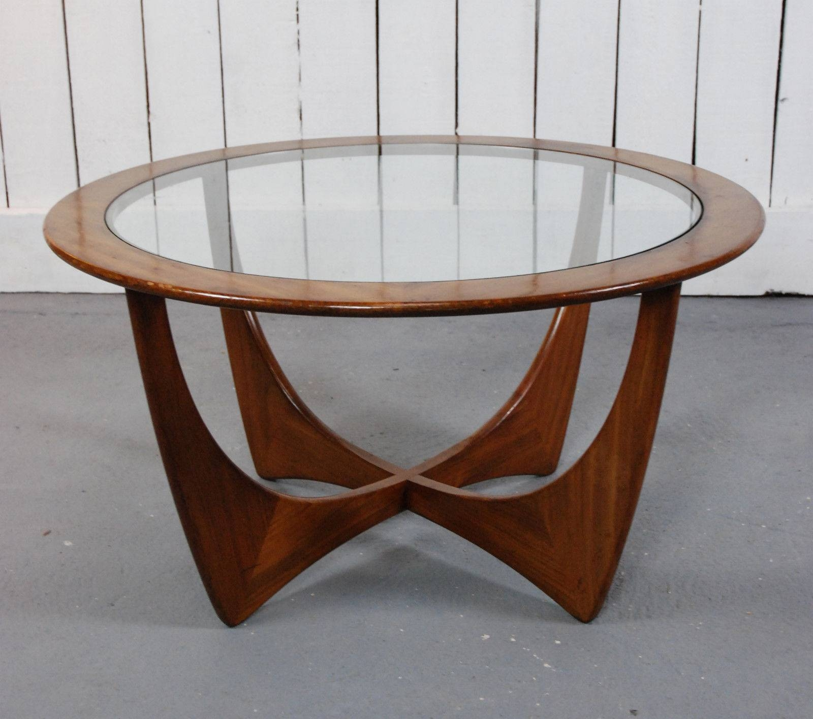 Wonderful Teak Coffee Table Oval Living Room Table Glossy Dark Intended For Retro Smoked Glass Coffee Tables (View 2 of 30)