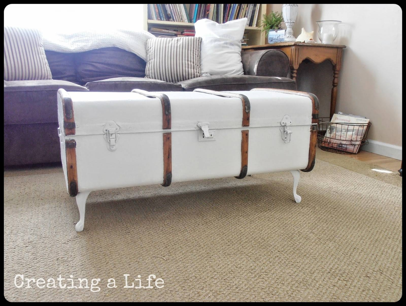Wonderful Vintage Trunk Coffee Table With Vintage Suitcase To A inside Old Trunks As Coffee Tables (Image 30 of 30)