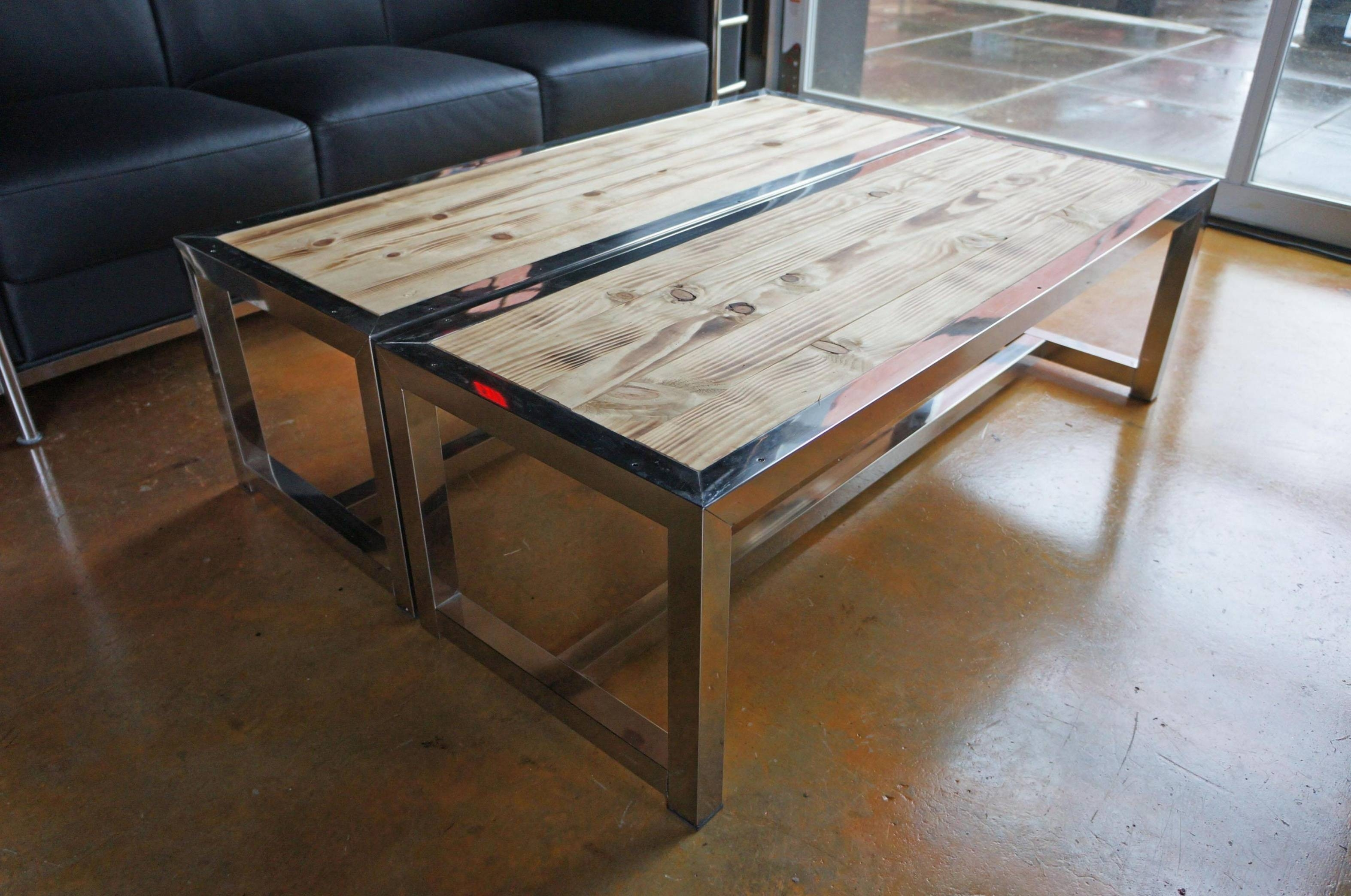 Wood And Chrome Coffee Table – Home Salers Pertaining To Wood Chrome Coffee Tables (View 2 of 30)