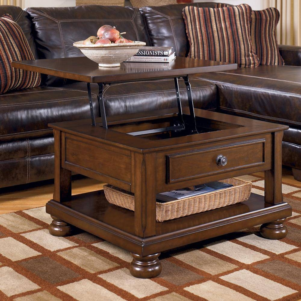 Wood Coffee Table Storage Slate Top Coffee Table   4 Tips In For Round Slate Top Coffee Tables (Photo 3 of 30)