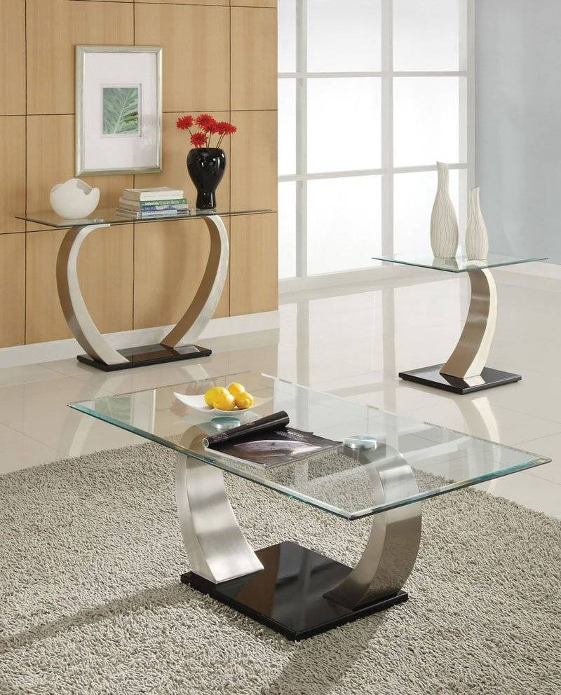 Wood Metal And Glass End Tables | Decorative Table Decoration throughout Rectangle Glass Chrome Coffee Tables (Image 30 of 30)