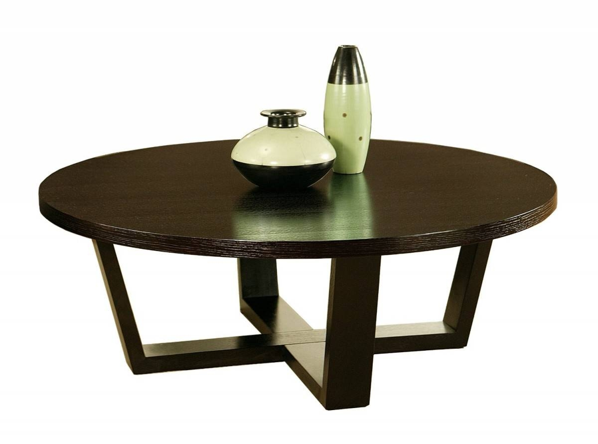 Wood Round Cocktail Table | Coffee Tables Decoration with regard to Black Circle Coffee Tables (Image 29 of 30)