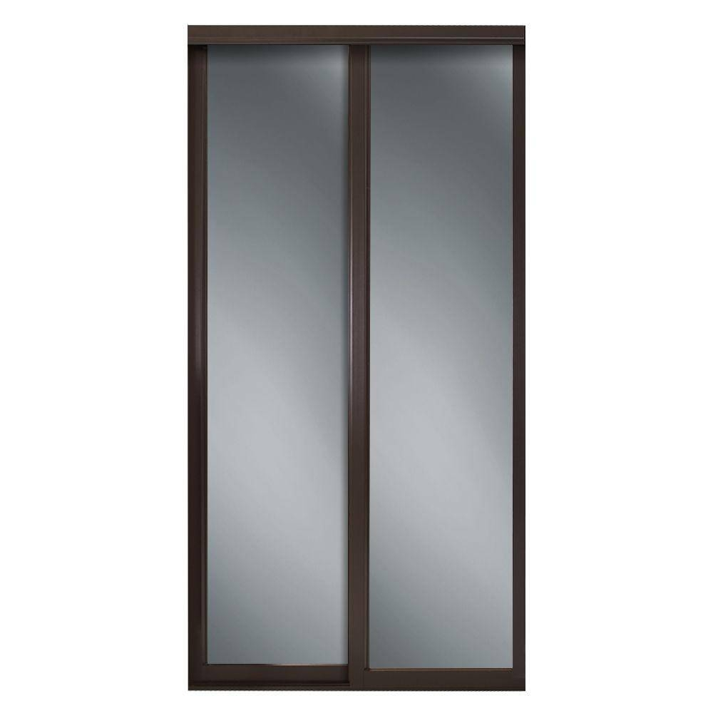 Wood - Sliding Doors - Interior & Closet Doors - The Home Depot with regard to Dark Wood Wardrobe Doors (Image 30 of 30)