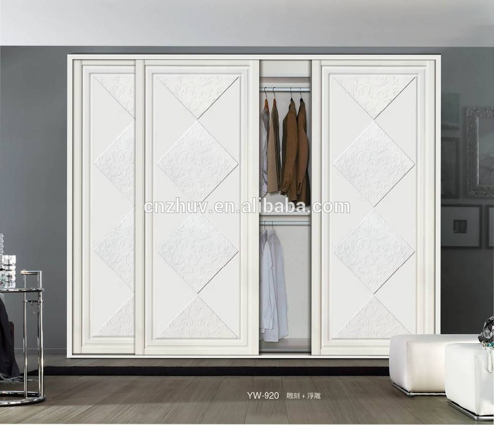 Wooden 3 Doors Wardrobe Closet, Wooden 3 Doors Wardrobe Closet with Cheap 3 Door Wardrobes (Image 15 of 15)