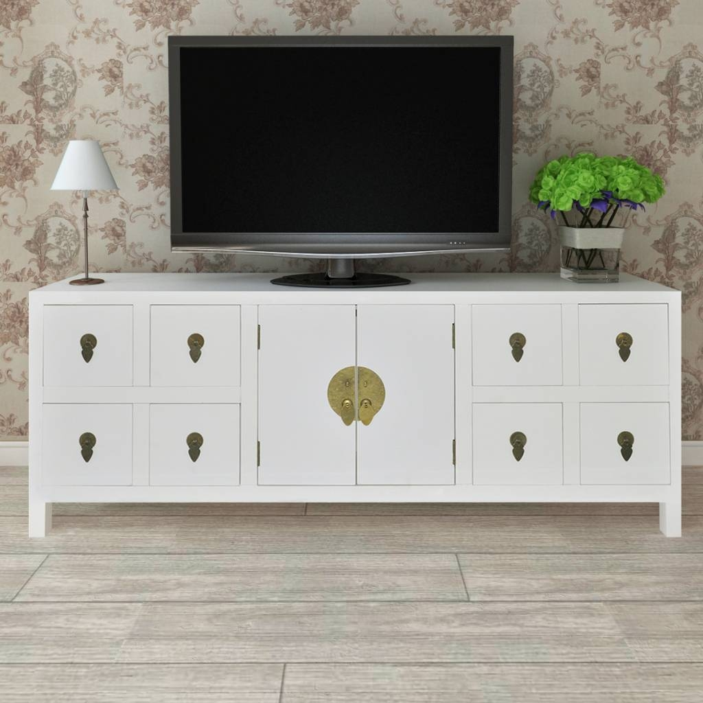 Wooden Asian Sideboard Tv Cabinet 8 Drawers And 2 Doors | Vidaxl intended for Asian Sideboards (Image 30 of 30)