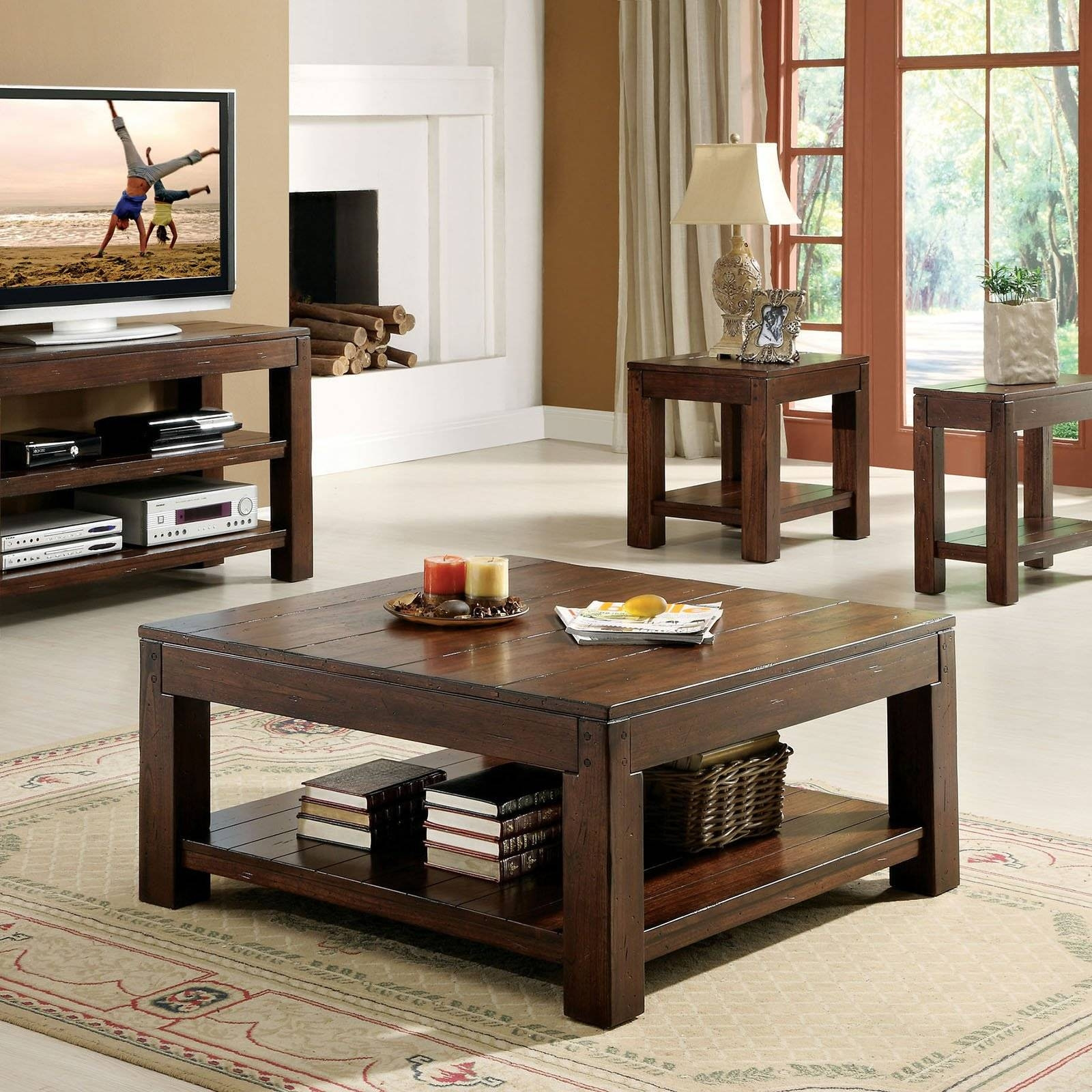 Wooden Coffee Table And Tv Stand - Coffee Addicts throughout Rustic Coffee Tables And Tv Stands (Image 30 of 30)