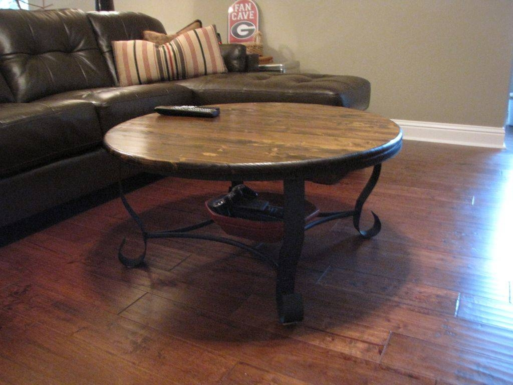 Wooden Coffee Table Iron Legs | Coffee Tables Decoration In Retro Glass Top Coffee Tables (View 14 of 30)
