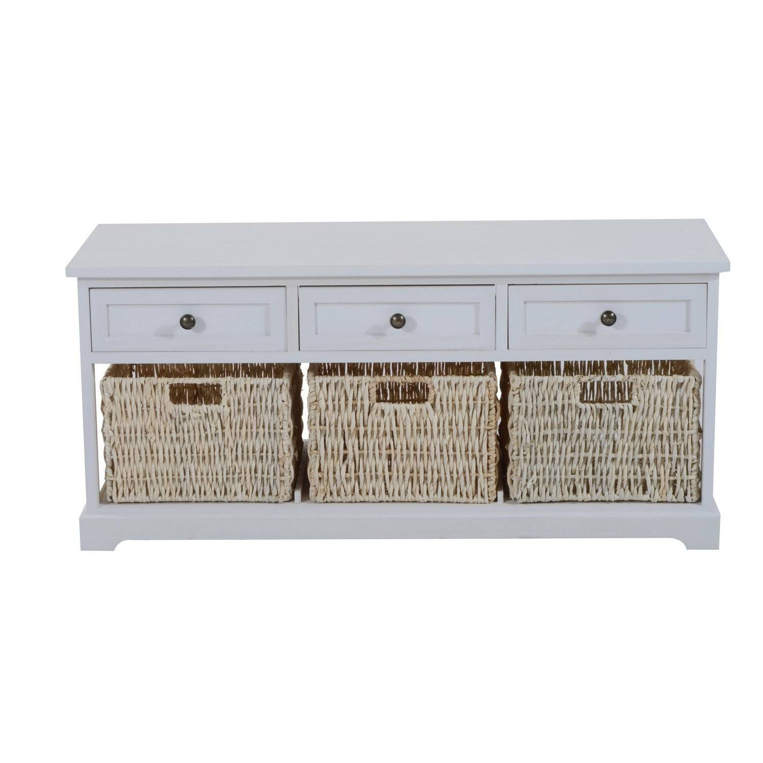 Wooden Coffee Table With Seagrass Wicker Storage Baskets – Ideal regarding Coffee Table With Wicker Basket Storage (Image 30 of 30)
