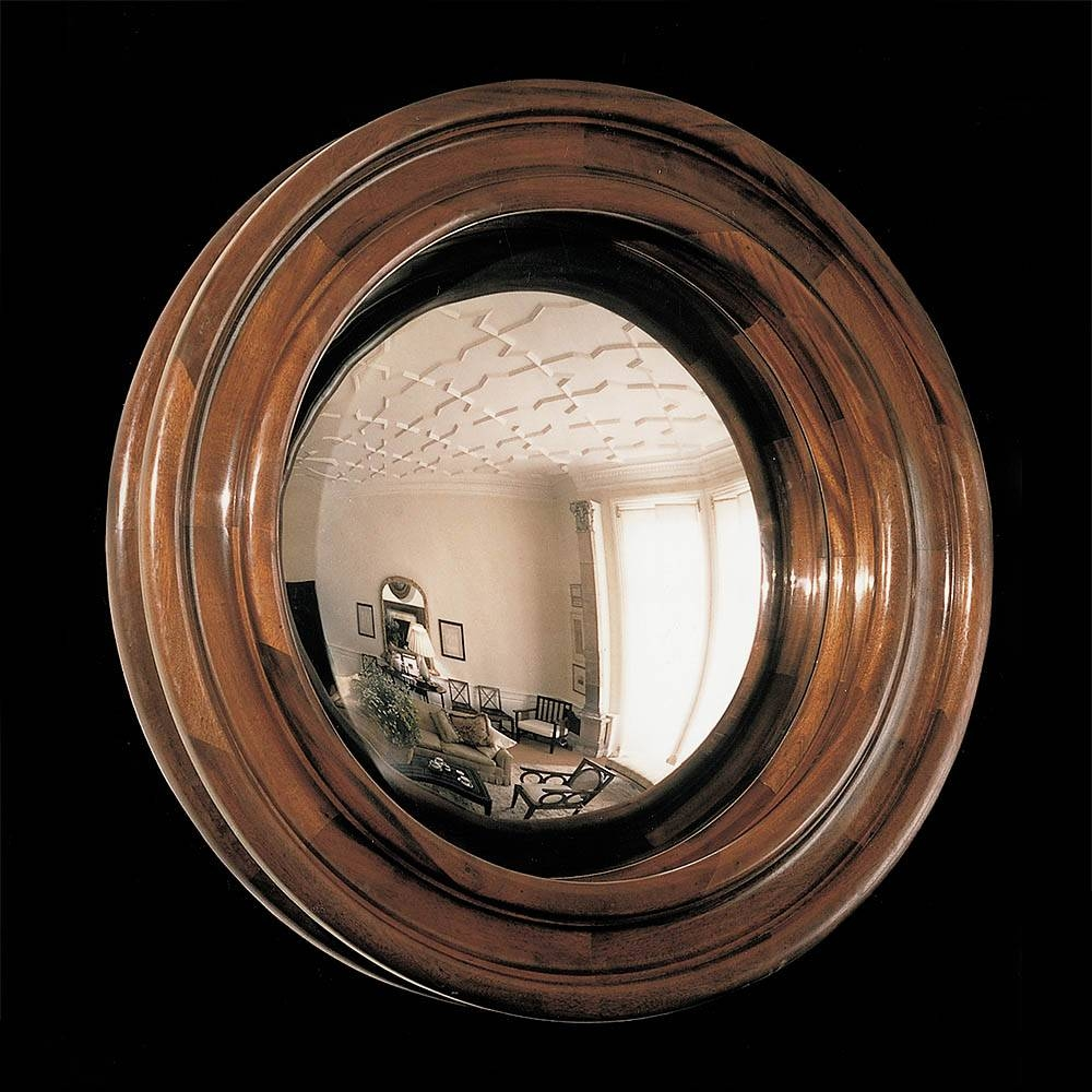 Wooden Convex Mirror - Product Ft 165 in Black Convex Mirrors (Image 25 of 25)
