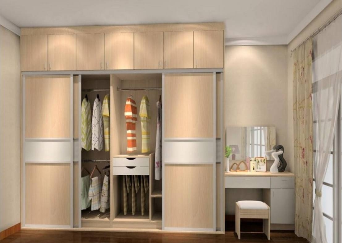 Wooden Dressing Table With Mirror Designs   Dena Decor regarding Wardrobes and Dressing Tables (Image 15 of 15)