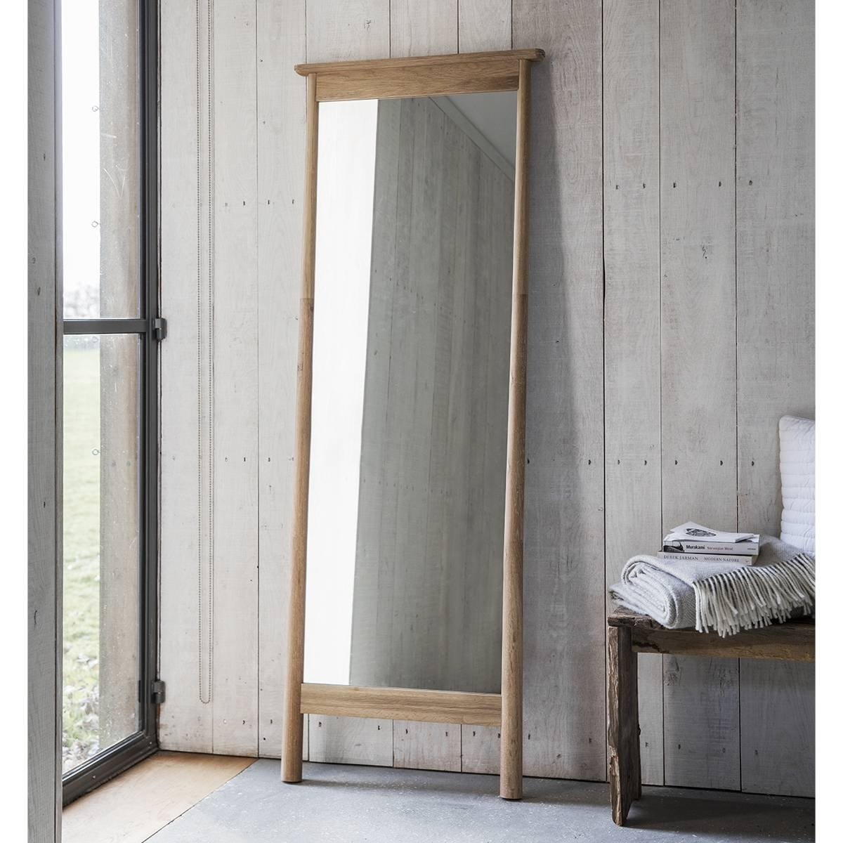 Wooden Framed Leaner Mirror 174 X 64Cm Wooden Framed Leaner Mirror pertaining to Full Length Cheval Mirrors (Image 24 of 25)