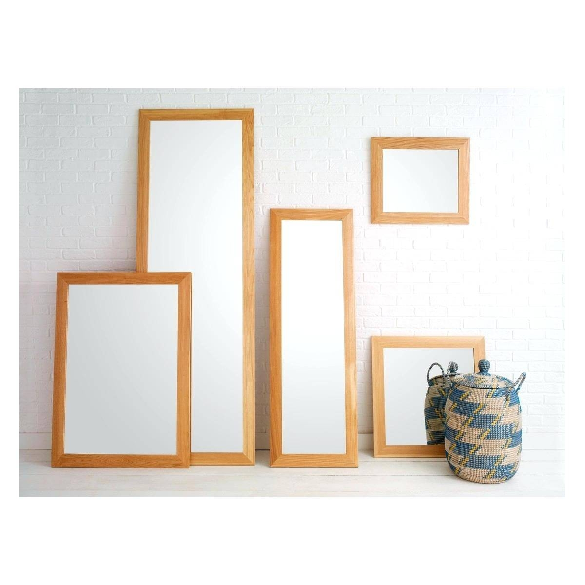 Wooden Full Length Mirroroak Framed Wall Mirror Oak – Shopwiz throughout Large Oak Framed Mirrors (Image 25 of 25)