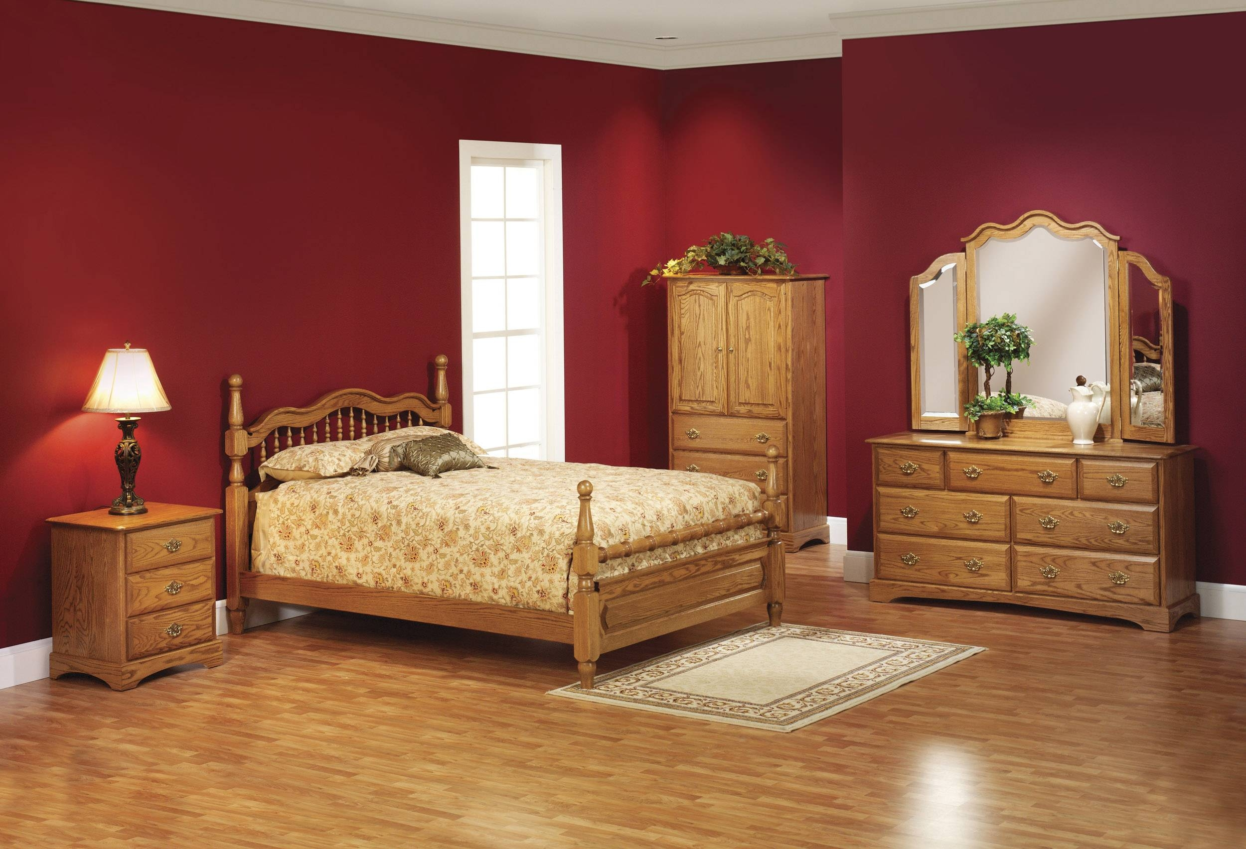 Wooden Furniture Elegant Bedroom With Wooden Bed And Wooden within Dark Wood Wardrobe Sets (Image 30 of 30)