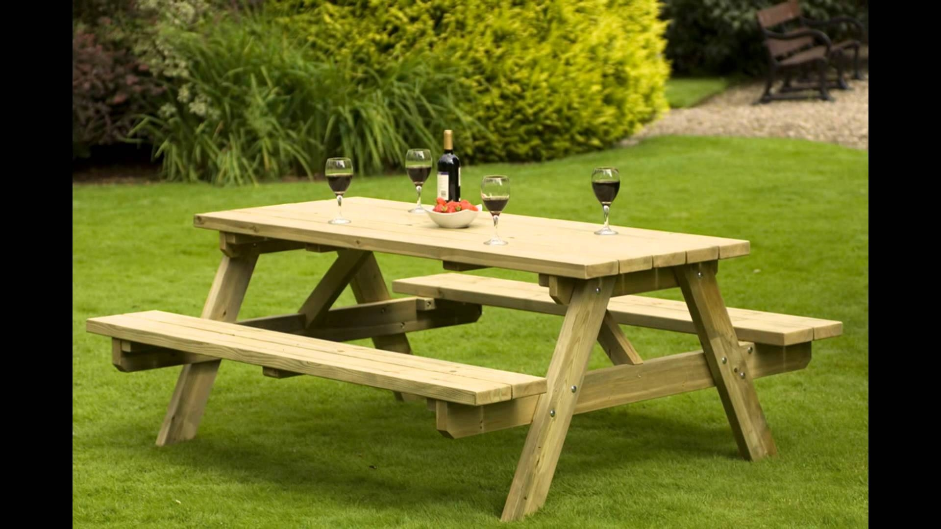 Wooden Garden Chairs – Youtube Inside Wooden Garden Coffee Tables (Image 27 of 30)