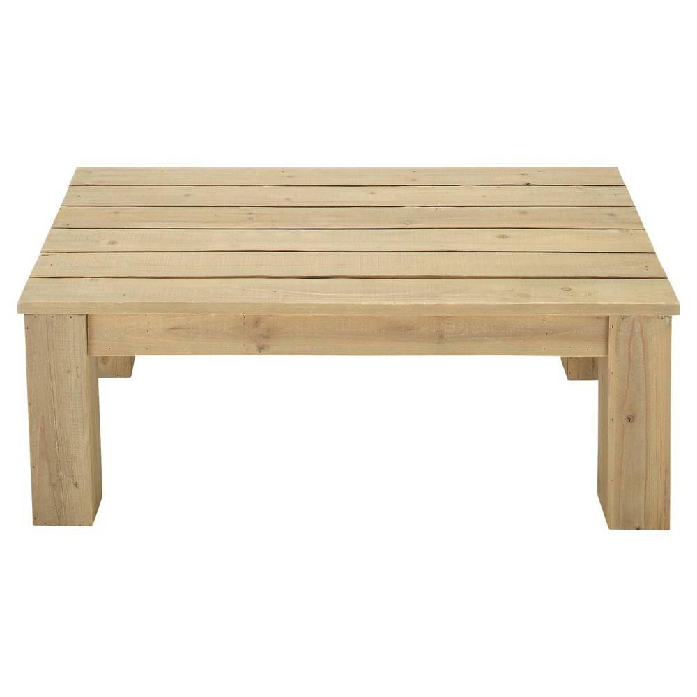 Wooden Garden Coffee Table W 100Cm Bréhat | Maisons Du Monde Inside Wooden Garden Coffee Tables (Image 28 of 30)