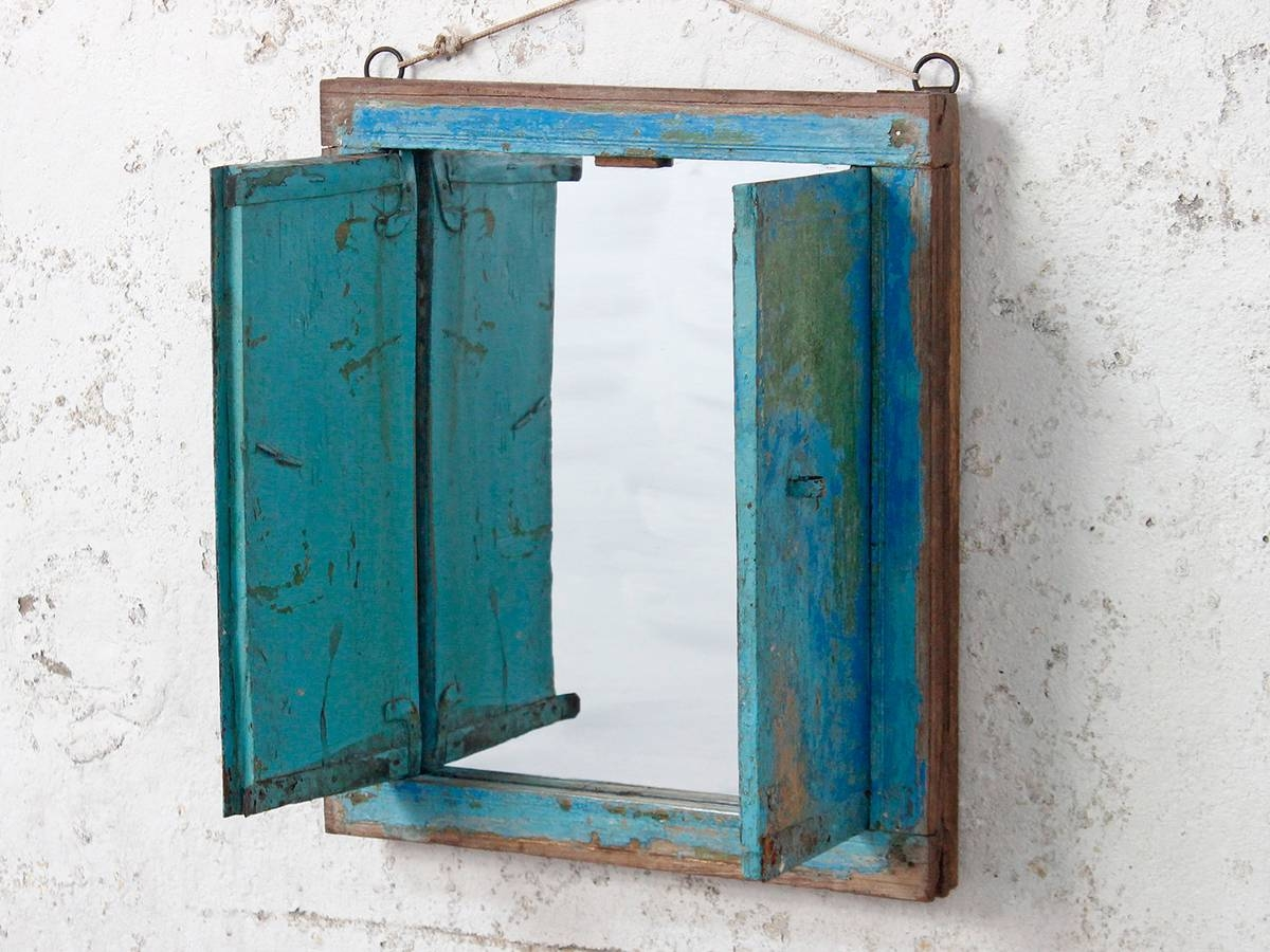 Wooden Mirrors | Vintage Wooden Mirrors | Scaramanga inside Wall Mirrors With Shutters (Image 24 of 25)