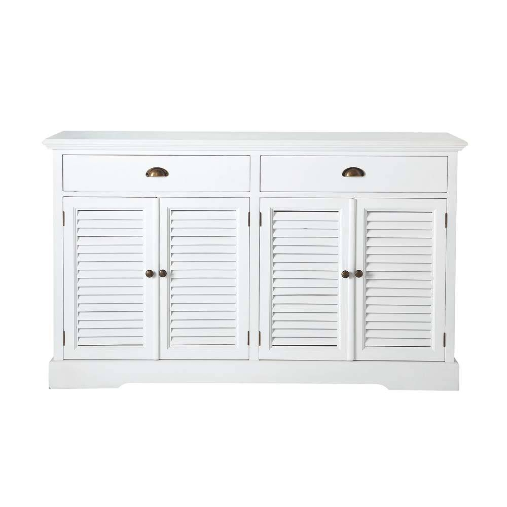 Wooden Sideboard In White W 150Cm Barbade | Maisons Du Monde pertaining to White Wooden Sideboards (Image 29 of 30)