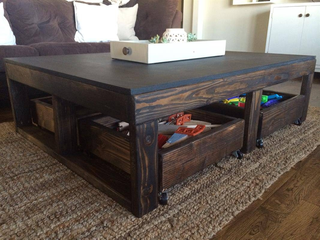 Wooden Storage Bin – Buildsomething Pertaining To Kids Coffee Tables (View 28 of 30)
