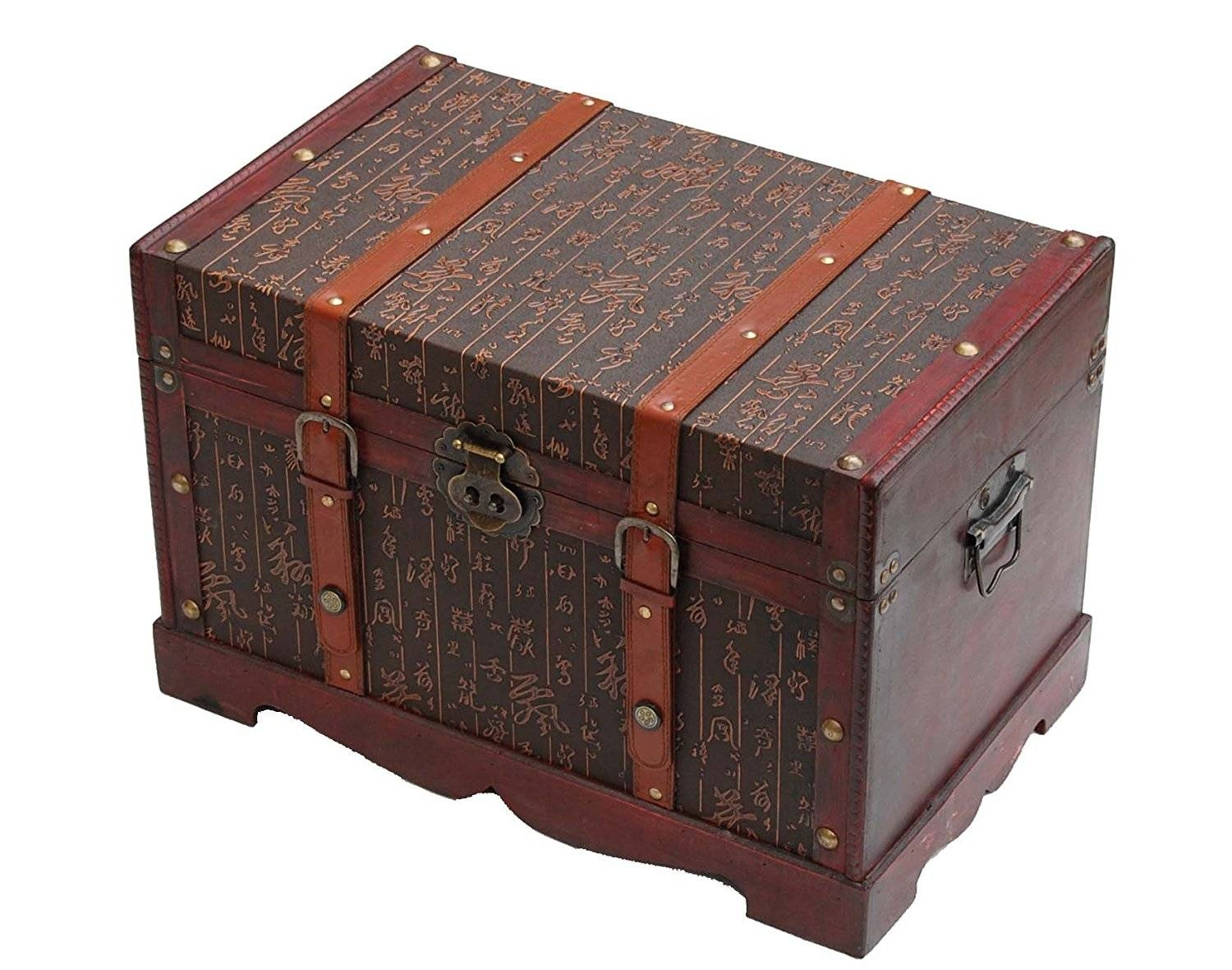 Wooden Storage Trunk/chest/coffee Table Chinese Character Pattern with regard to Storage Trunk Coffee Tables (Image 30 of 30)
