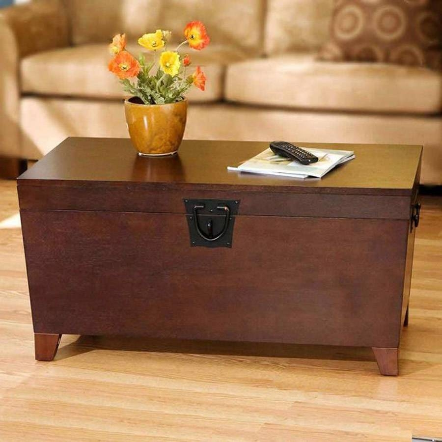 Wooden Trunks Coffee Tables | Coffee Tables Decoration in Steamer Trunk Stainless Steel Coffee Tables (Image 29 of 30)