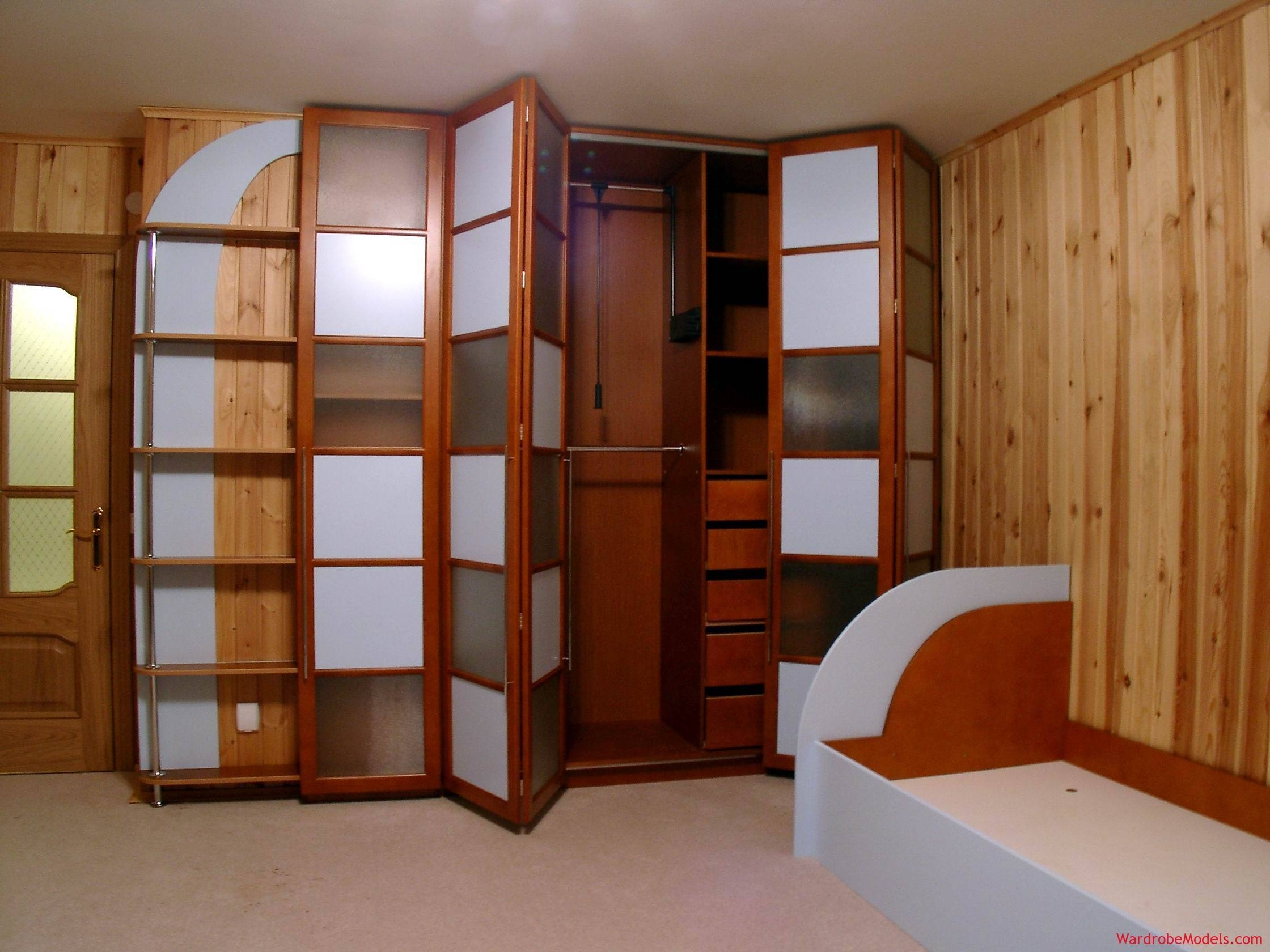 Wooden Wardrobe Cabinets, Wood Cabinet Designs For Bedroom Home Within Dark Wood Wardrobe With Mirror (View 30 of 30)
