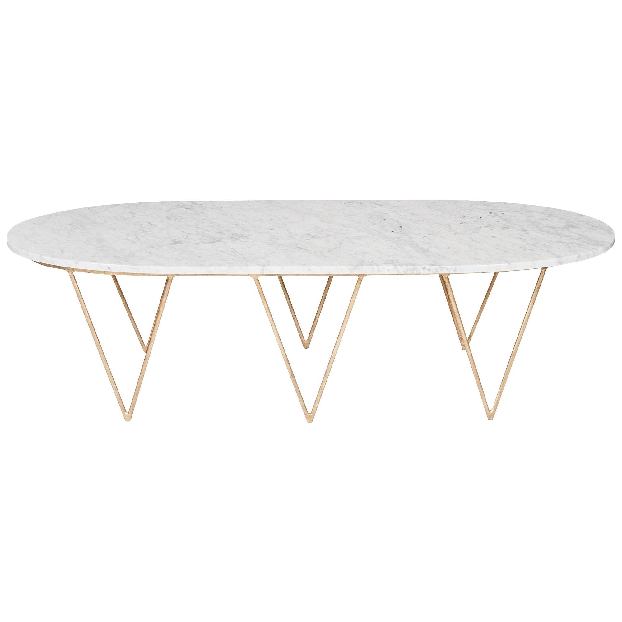 Worlds Away Surf Coffee Table With White Marble Top | Candelabra, Inc. in Oval White Coffee Tables (Image 30 of 30)