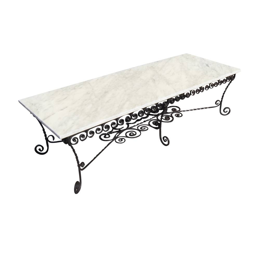 Wrought Iron Coffee Table | Porch & Living Room throughout Marble And Metal Coffee Tables (Image 30 of 30)