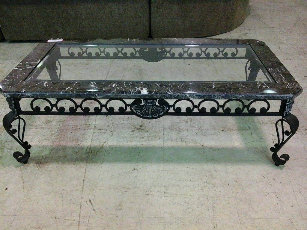 Wrought Iron Coffee Tables With Glass Top | Coffee Tables Decoration throughout Wrought Iron Coffee Tables (Image 29 of 30)