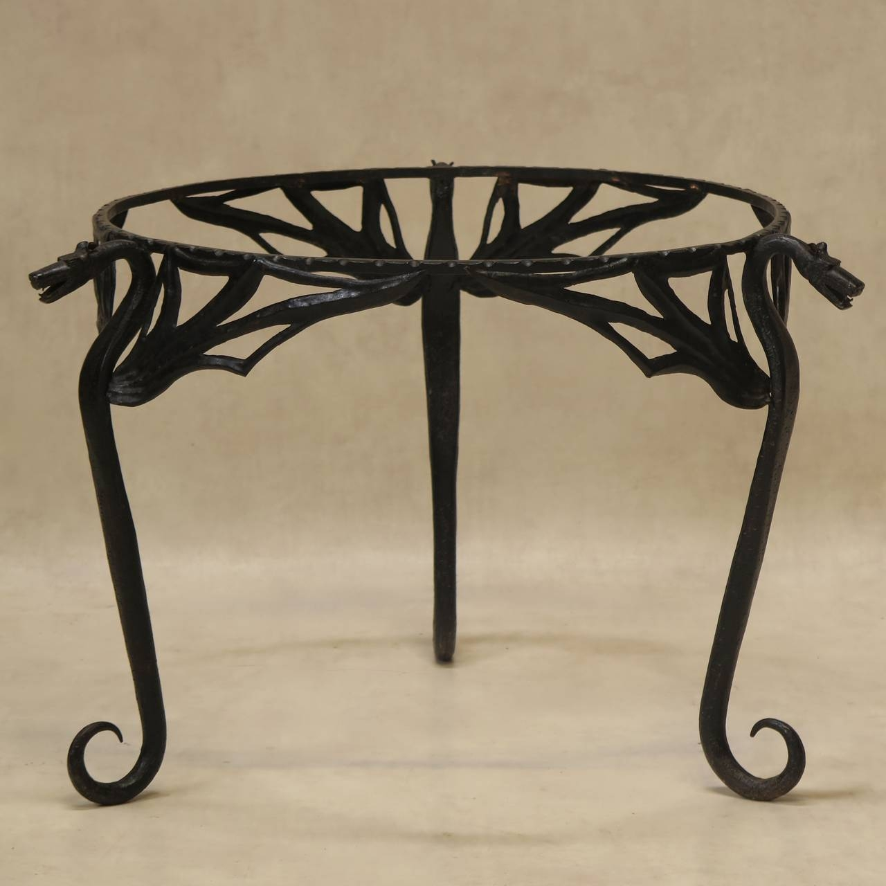 "Wrought Iron ""dragon"" Coffee Table With Copper Top, France, Early Inside Dragon Coffee Tables (View 14 of 30)"