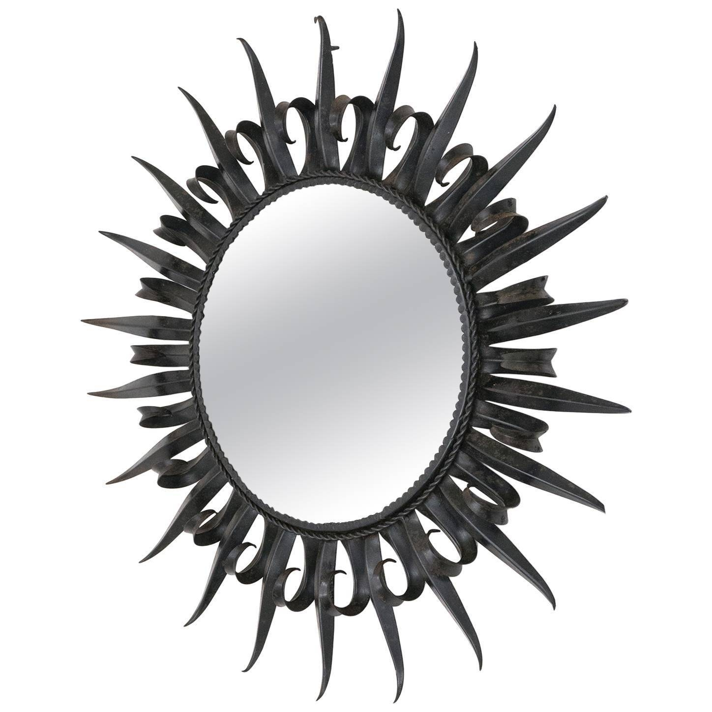 Wrought Iron Wall Mirrors - 72 For Sale At 1Stdibs inside Black Wrought Iron Mirrors (Image 24 of 25)