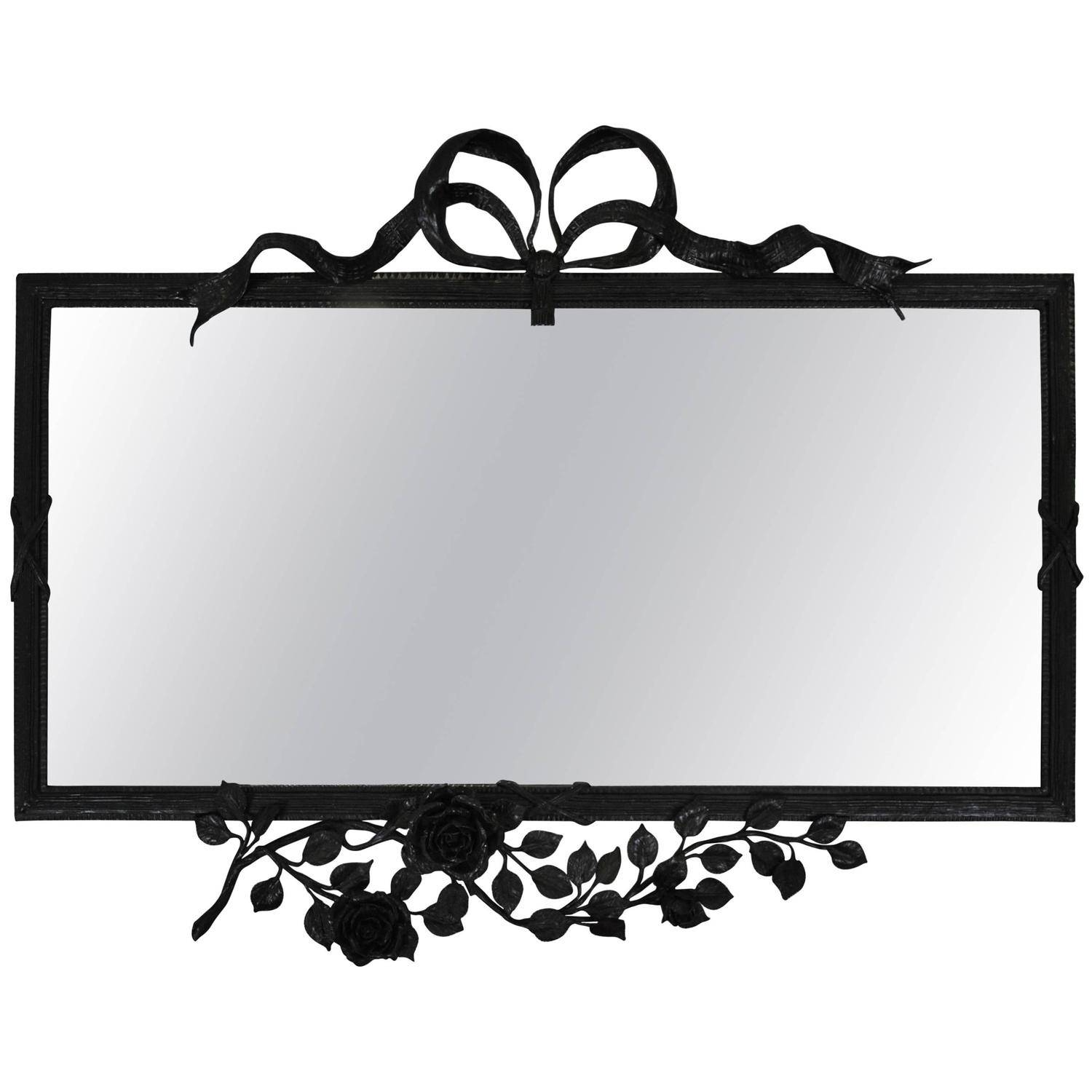 Wrought Iron Wall Mirrors - 72 For Sale At 1Stdibs intended for Black Wrought Iron Mirrors (Image 25 of 25)
