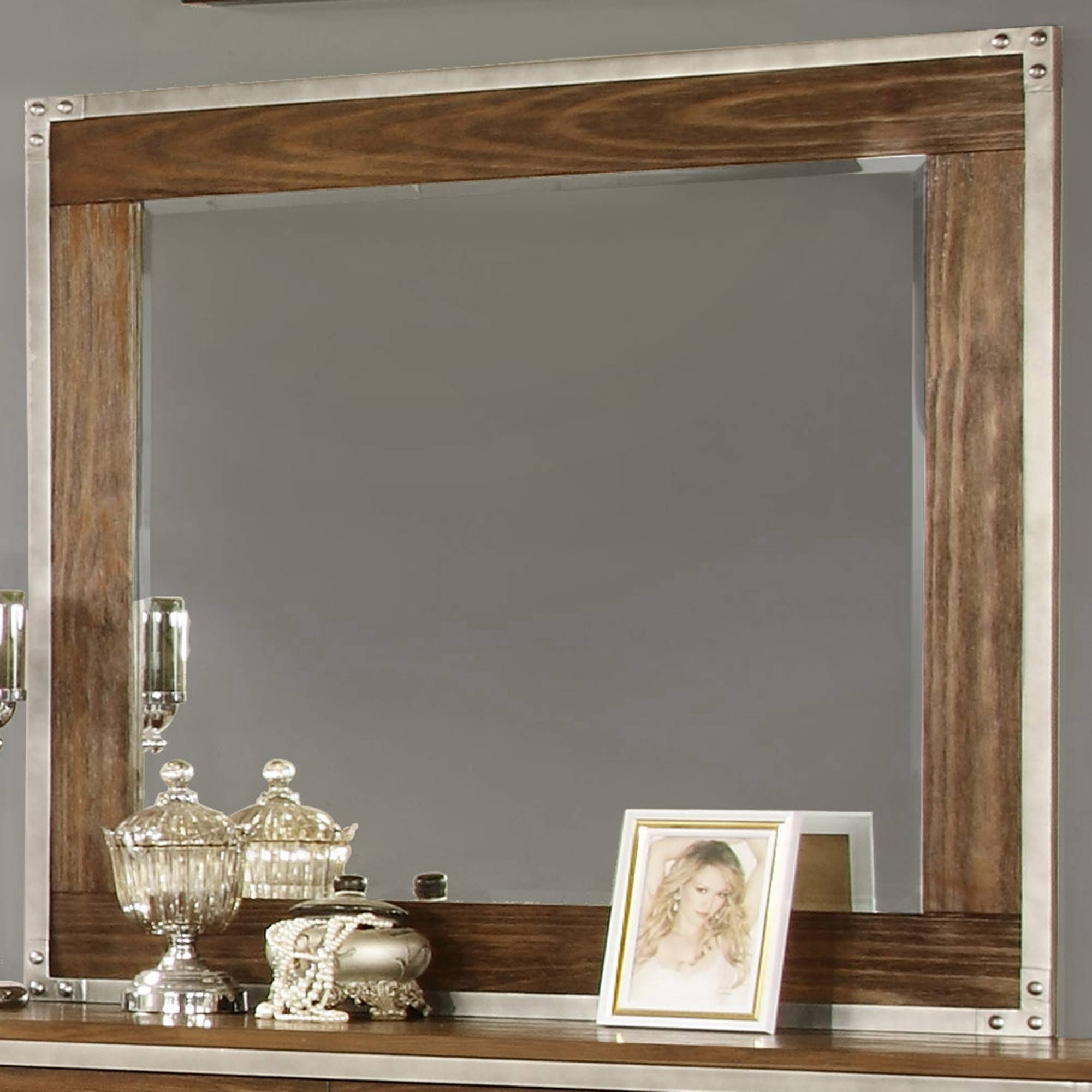Wyatt Dresser Mirror In Rustic Oak - Night Tables, Dresser/mirrors with regard to Rustic Oak Mirrors (Image 25 of 25)