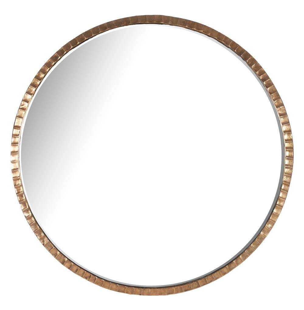Yorkville Hollywood Regency Large Thin Round Wall Mirror | Kathy Inside Large Circular Mirrors (Gallery 10 of 25)