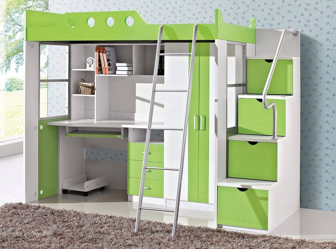Young Children Bed Multifunctional Bed Desk Wardrobe Combination for Bed And Wardrobes Combination (Image 15 of 15)