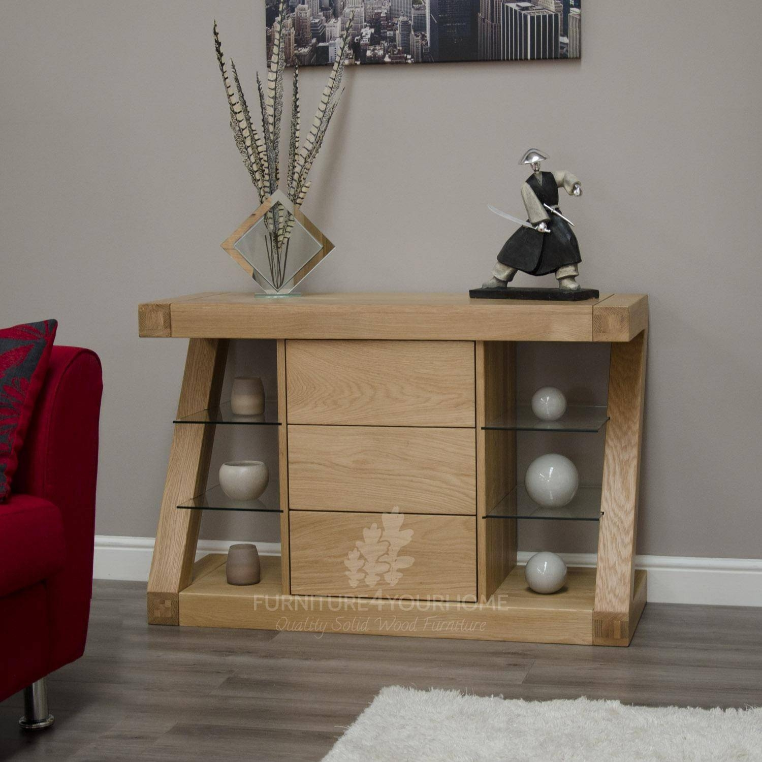 Z Oak Designer Small Sideboard | Furniture4Yourhome with regard to Small Wooden Sideboards (Image 30 of 30)