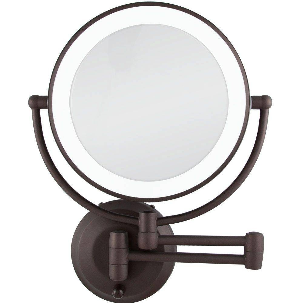 Zadro 14.50 In. L X 11.5 In. W Led Lighted Wall Mirror In Oil in Bronze Wall Mirrors (Image 25 of 25)