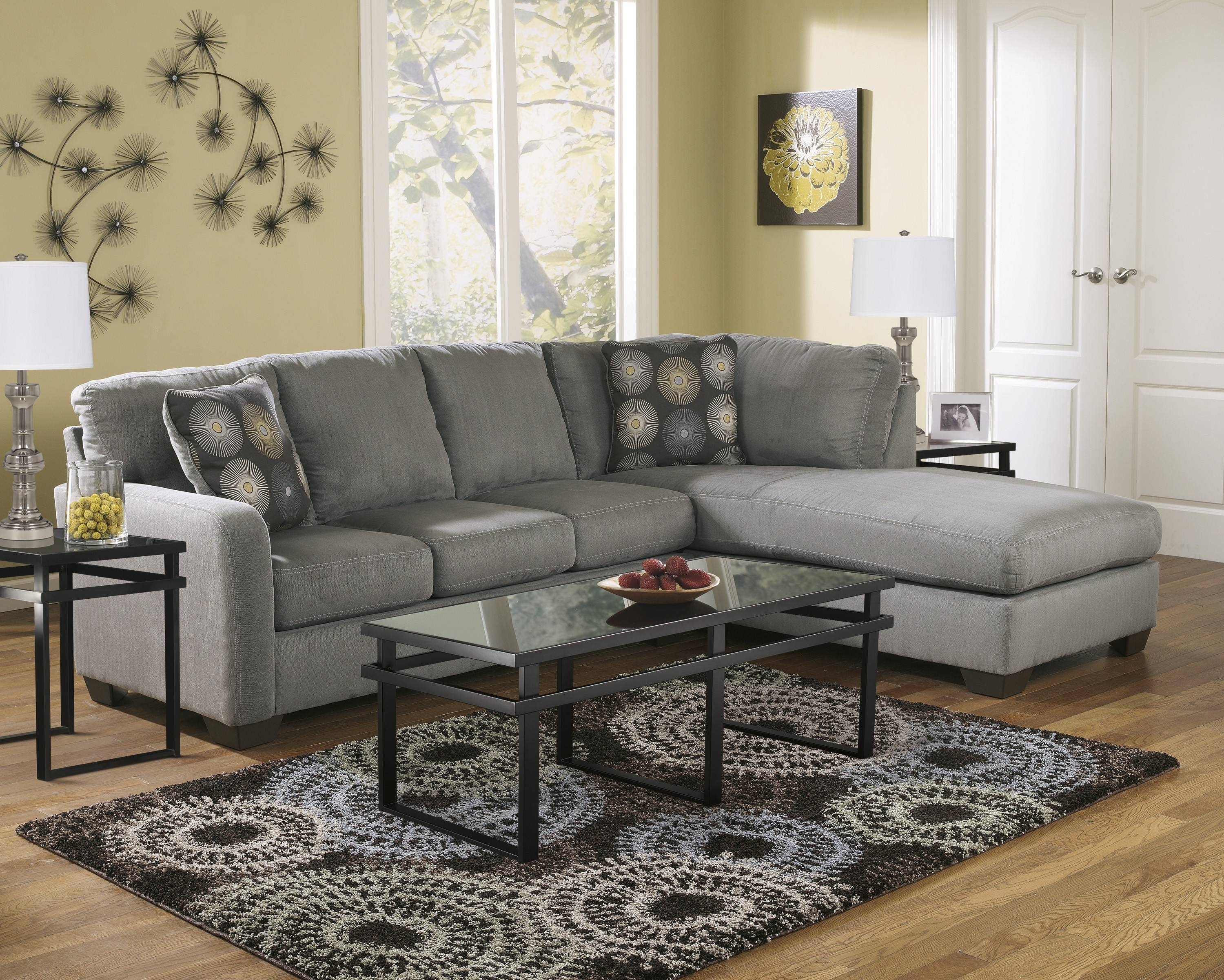 Zella Charcoal 2-Piece Sectional Sofa For $545.00 - Furnitureusa pertaining to Small 2 Piece Sectional Sofas (Image 30 of 30)