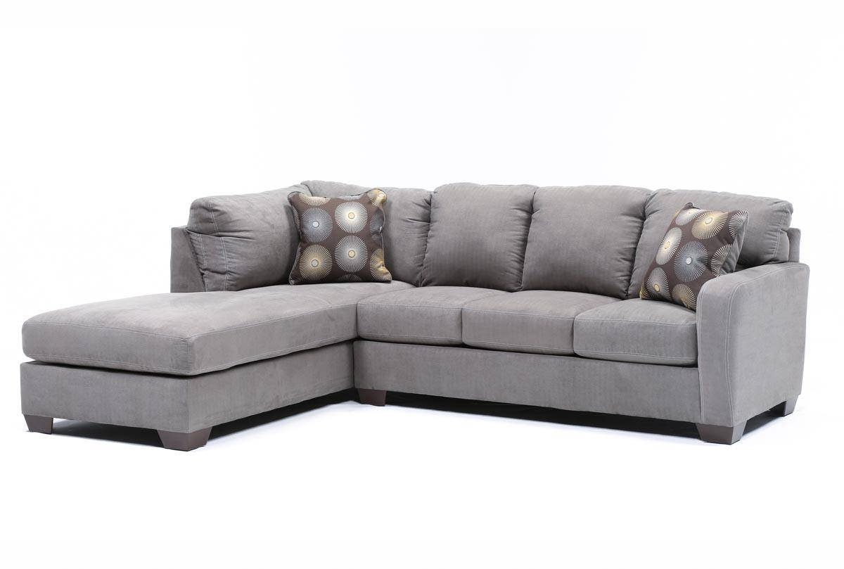 Zella Charcoal 2 Piece Sectional W/laf Chaise – Living Spaces For Sectional Sofa With 2 Chaises (View 30 of 30)
