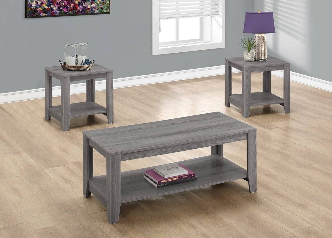 Zipcode Design Bulma Coffee Table Set & Reviews | Wayfair for Grey Coffee Table Sets (Image 30 of 30)