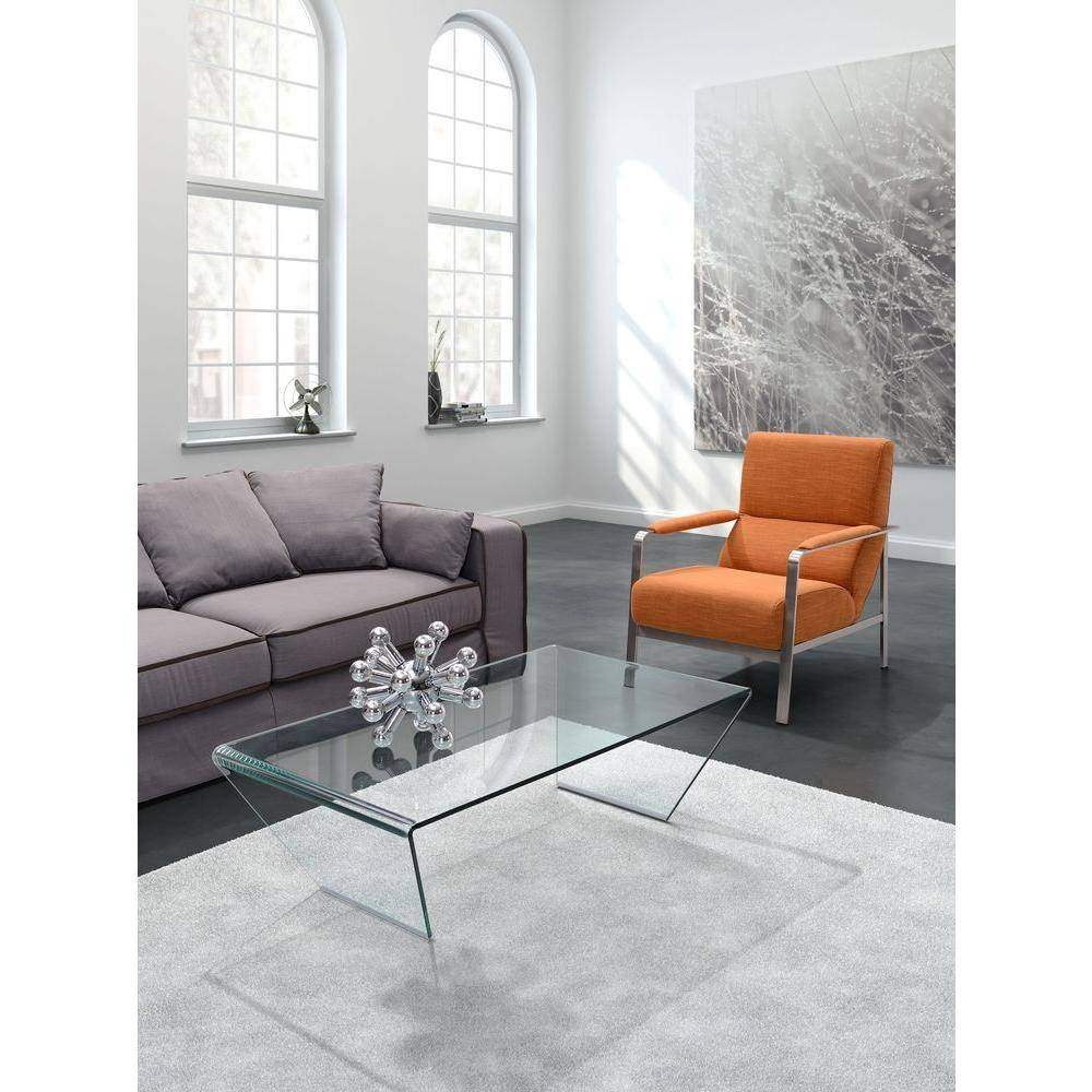 Zuo Migration Clear Glass Coffee Table 404087 – The Home Depot Pertaining To Transparent Glass Coffee Tables (Image 30 of 30)
