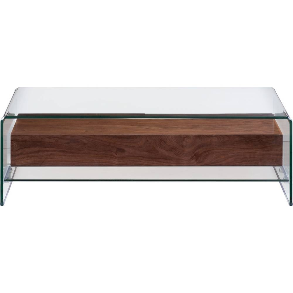 Zuo Modern 404066 Shaman Coffee Table In Curved Glass W/ Thick With Regard  To Curved