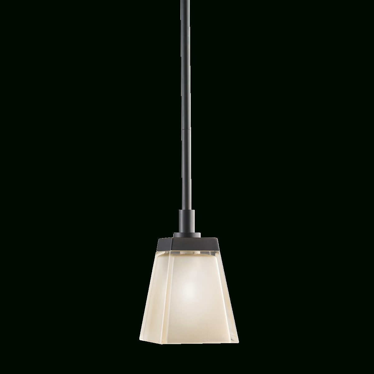 1 Light Halogen Mini Pendant In Olde Bronze & Chunky Glass with regard to Halogen Mini Pendant Lights (Image 1 of 15)