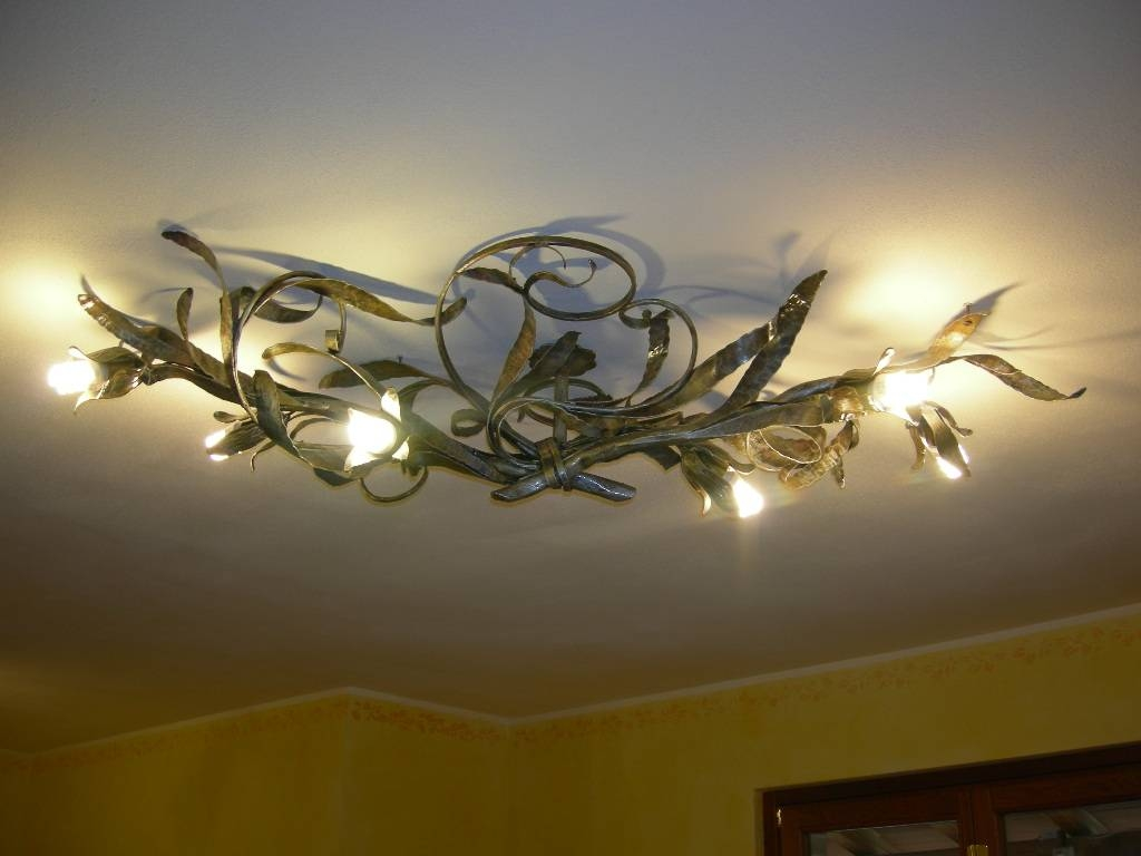10 Options Of Wrought Iron Ceiling Lights | Warisan Lighting regarding Wrought Iron Lights Fittings (Image 1 of 15)