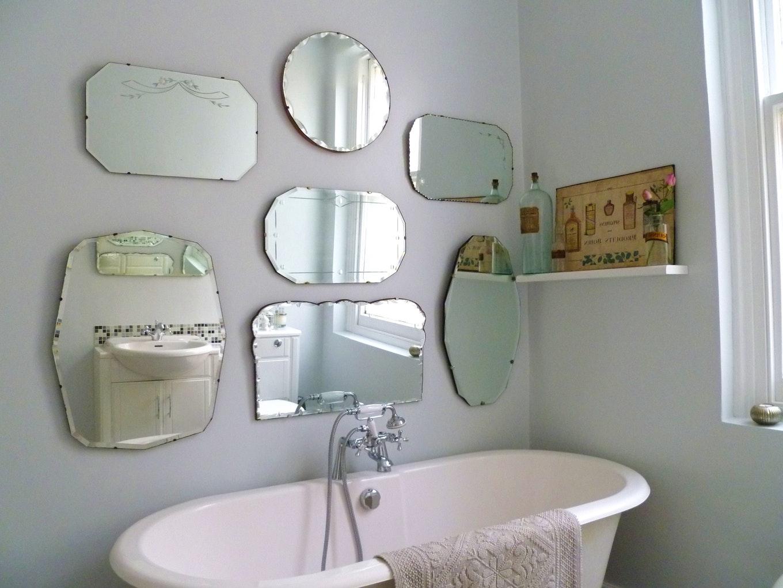 15 Inspirations Large Frameless Bathroom Mirror: 15 Ideas Of Vintage Frameless Mirrors
